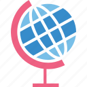desk globe, geography, globe, map icon