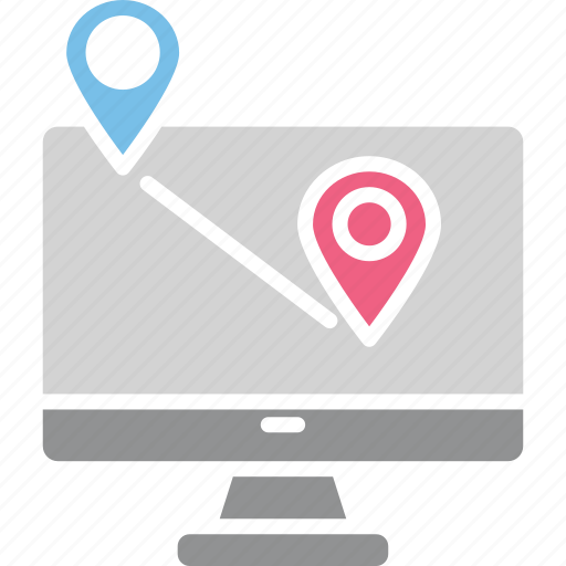 navigation app, navigation software, online gps service, online map icon
