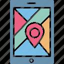 gps navigation, mobile navigation app, mobile navigation website, navigation app icon