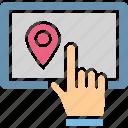 navigation software, navigation website, online map, online navigation icon