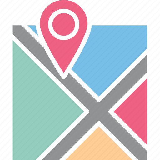 address navigator, location map, location pointer, map and destination icon