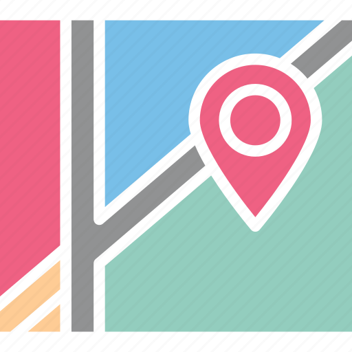 address navigator, location map, location pointer, map and destination icon
