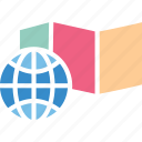 earth planet, global location, global map, globe grid icon