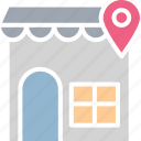 location holder, map pin, navigation, shop location icon