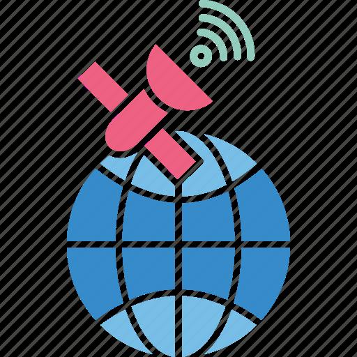 biomass satellite, global navigation satellite, radar satellite, space based radar icon