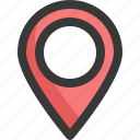 gps, location, map, navigation, pin, point icon