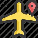 aeroplane, airplane, gps, location, map, navigation, plane icon