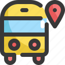 bus, direction, gps, location, map, navigation, school icon