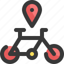 bicycle, direction, gps, location, map, navigation, pin