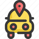car, gps, location, map, navigation, pin icon
