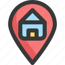 gps, home, house, location, map, navigation, pin