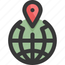 global, gps, location, map, navigation, world icon