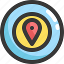 aim, gps, location, map, navigation, target