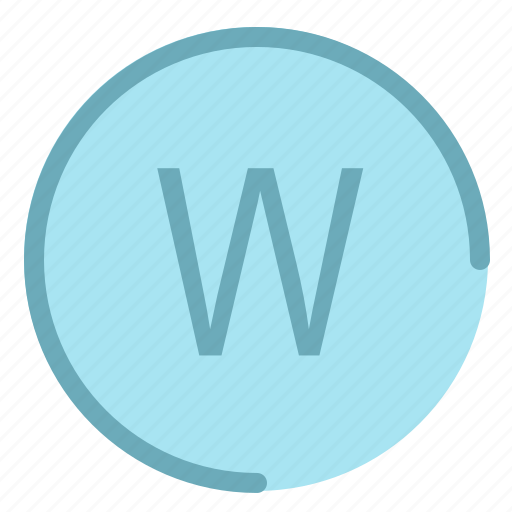 direction, location, map, navigation, west icon