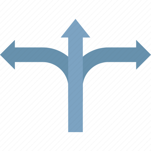 arrows, highway arrows, navigation, navigation sign, right and left, straight left and right, traffic arrows icon