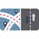 gps, highway guideline, location marker, location pin, location pointer, map locator, map pin icon