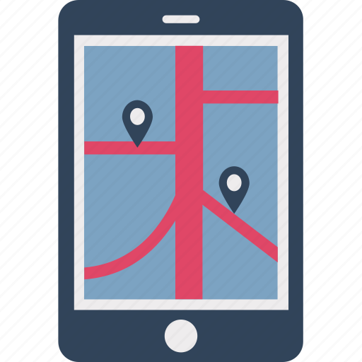 gps, locator, map, map device, mobile, navigation, tab icon