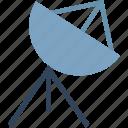 broadcasting, communication, dish antenna, parabolic antenna, radar, satellite dish, space icon