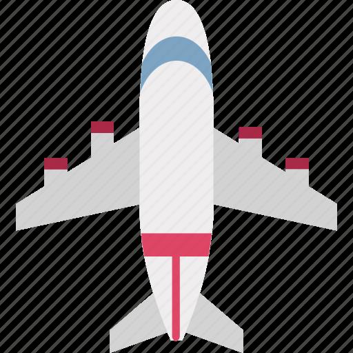 aeronautics, aircraft, airliner, airplane, aviation, flight, plane jet icon