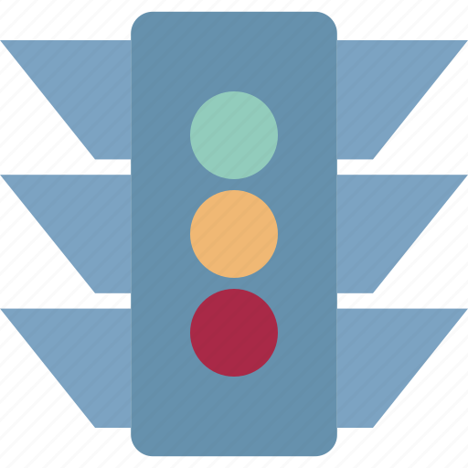 signal lights, stop lights, traffic lamps, traffic lights, traffic robots, traffic semaphore, traffic signals icon