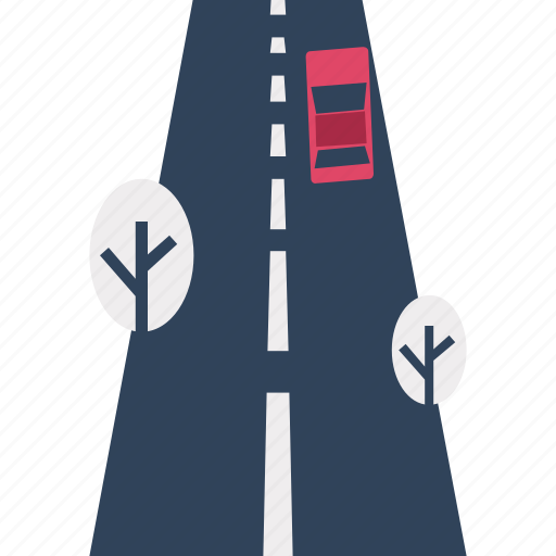 direction road, highway, path, road, route, thoroughfare, transport icon