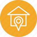 gps, home, house, location icon
