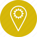 gear, list, pin, setting, settings icon