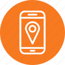 location, map, mobile, phone icon