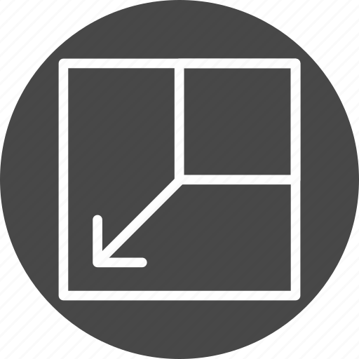 arrow, expand, layout, scale icon