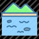 lake, nature, ocean icon, water icon