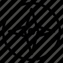 emblem, star, tour, tour guide icon