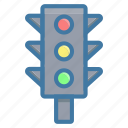 electricity, light, traffic, traffic light icon, transportation