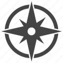 compass, rose, wind icon