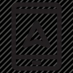 gps, maps, mobile, navigation, phone icon