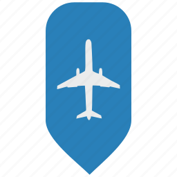 airbus, fly, map, object, pointer icon
