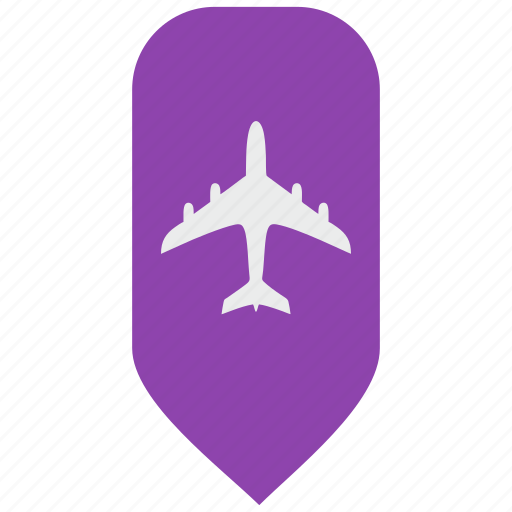 airbus, fly, map, passenger, pointer icon