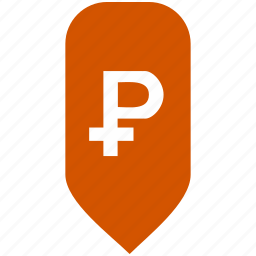 exchange, map, place, pointer, ruble icon