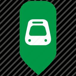 map, metropolitan, pointer, train, underground icon