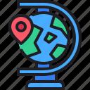 world, pin, map, location, globe