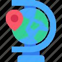 location, globe, map, pin, world