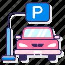 car, park, parking, vehicle
