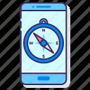 app, compass, mobile, smartphone
