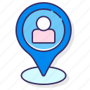 current, location, map, pin icon
