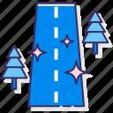 road, sealed, transport, transportation icon