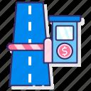toll, road, transportation, price icon