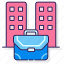 briefcase, building, business, work