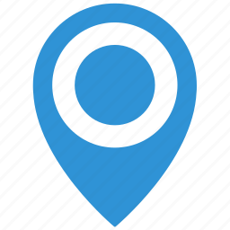 blue, geo, map, object, point icon