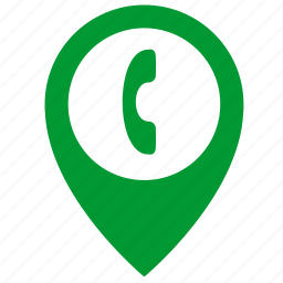 call, consult, map, object, phone, place, pointer icon