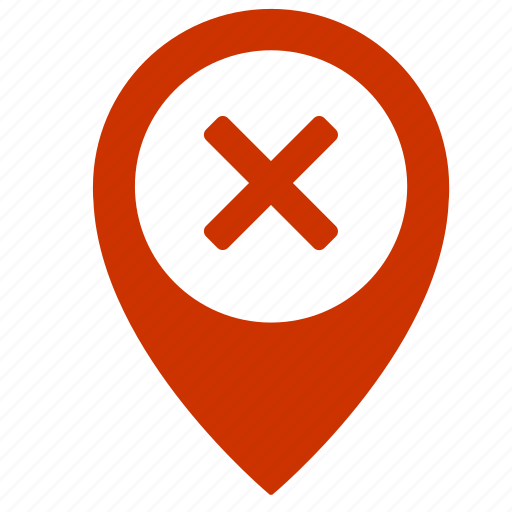 cancel, close, delete, exit, map, point, pointer icon