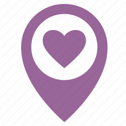 heart, love, map, object, point, sweet icon